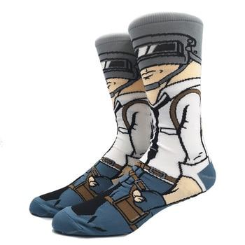 Cartoon Rabbit Sock Casual Hip Hop Creative Soft Comfortable Funny Novelty Skateboard socks Men Calcetines Hombre Divertido 39
