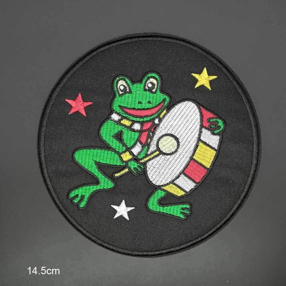 Büyük boy kurbağa demir On yamalar işlemeli giysi yama için giyim giyim