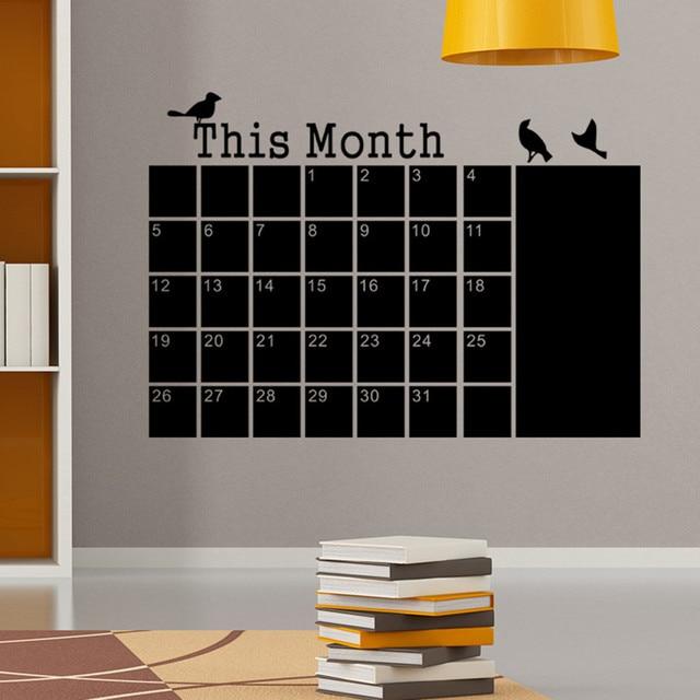 Blackboard Chalk DIY Monthly Planner Calendar 4