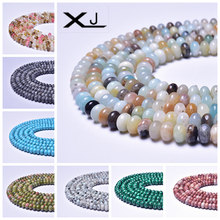 XJ Natural Wheel Stone Beads 32 Colors Spacer Loose 38cm a Strand 5mmx8mm Abacus For Jewelry Making DIY Bracelet
