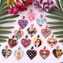 Statement New Design Oorbellen Resin Heart Earrings For Women Bohemian Handgemaakte Kralen Verklaring Bridal Earring Jewelry