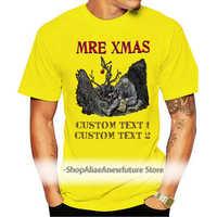Mre-Camiseta de algodón con estampado para hombre, camisa de manga corta con cuello redondo, personalizada, color blanco
