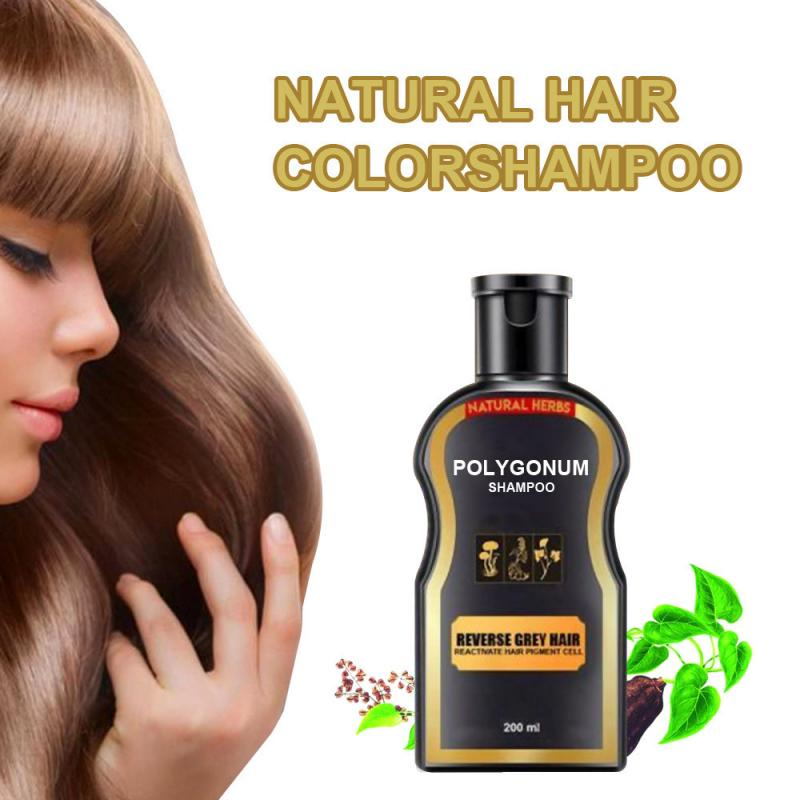 30ml Black Hair Shampoo Gray White Hair Color Treatment Grey Hair Removal Shiny Hair & Scalp Treatment Hair Care TSLM2