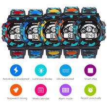 New LED Digital Watches Waterproof Sport Wrist Pedometer For Boy Men Daily Life 50M Diving Electronic Noctilucent