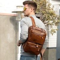 Fashion Men's Briefcase Messenger Bag Men Leather Briefcase Male Laptop Bags Men's Genuine Leather Bag Office Bags For Men Totes