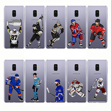 Soft Silicon Phone Cases Cover Sport Ice Hockey Sidney Crosby Cartoon Capinha Coque for Samsung A6 A8Plus A9 pro A7 A6S