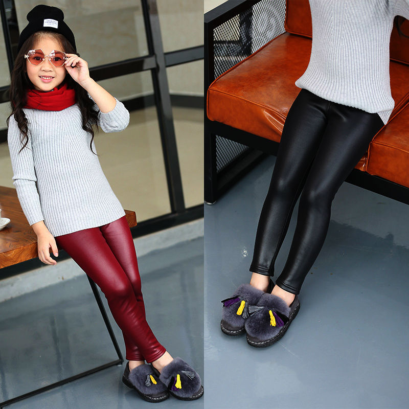 Winter Leggings Pant Trousers Stockings Slim Thick Warm Toddler Girl Kids Children 12T title=