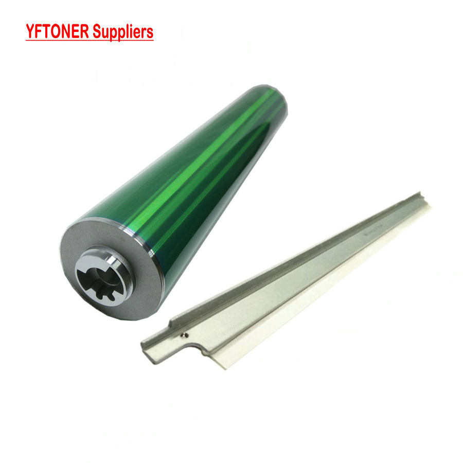 YFTONER Green Drum + Blade for Konica Minolta bizhub C6500 C6501 C6000 C7000 C5500 C5501 DU-102 Photo Copy Toner Cartridge