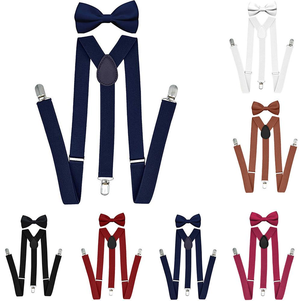 Suspenders For Men With Bowtie Set Bts Bangtan Boys Women Adults Braces Adjustable Szelki Elastic Jartiyer Bow Tie Suspensorio