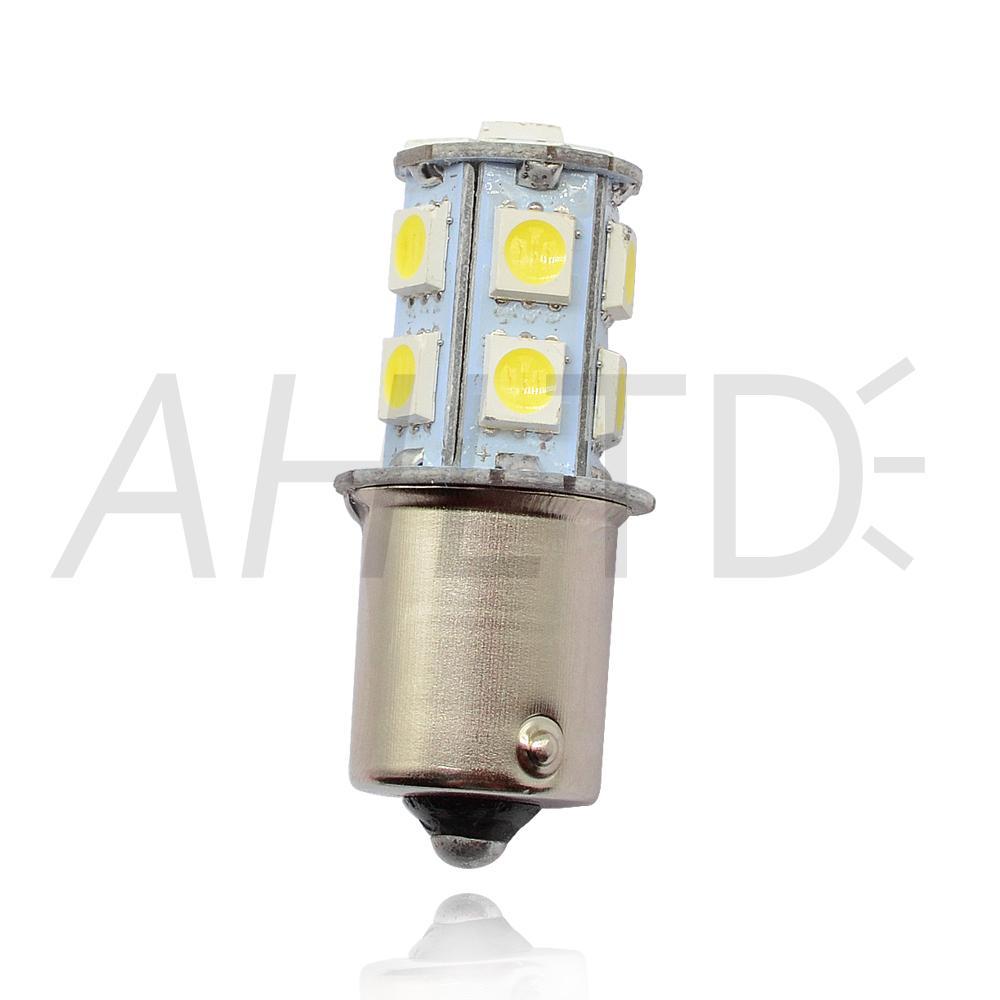 hviero 1156 BA15S P21W 1157 BAY15D Red Strobe Lamp 5050 13SMD Super Bright LED Bulbs 12V Car Brake Turn Signal Tail Flashing Light DC 12V 2
