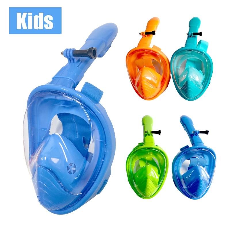 Professional Children Snorkel Diving Mask For Kids Swimming Training Full Face Mask Scuba Equipment Mergulho For Gopro Camera