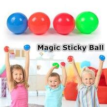 Alívio do estresse vara bola de parede bola de descompressão bola pegajosa squash bola de sucção brinquedo alvo pegajoso bola pegar jogar bola mágica truque