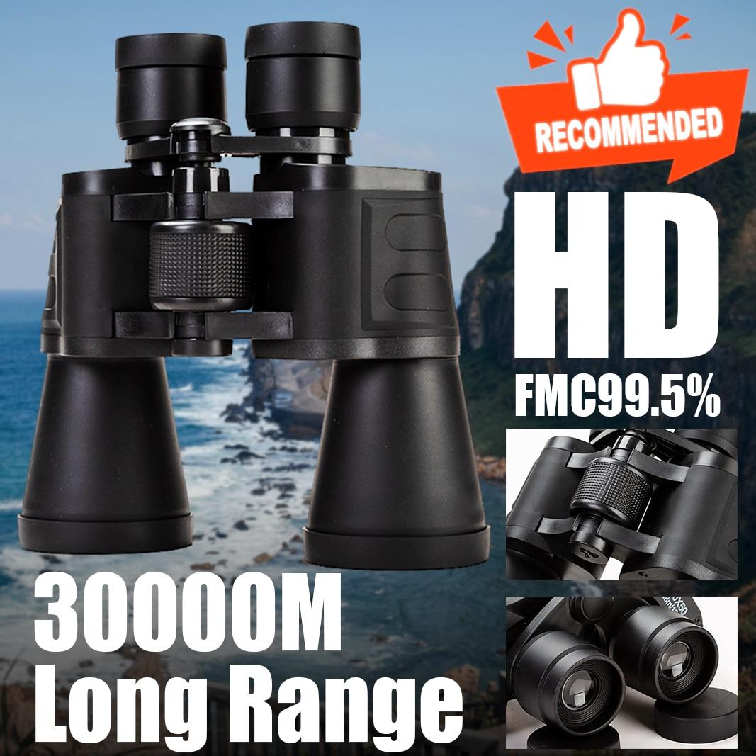 Бинокль 20x50 большой дальности 30000 м защитное hd-стекло для Мощность Телескоп оптический Стекло линзы низкая светильник для охоты и спорта Сфе...