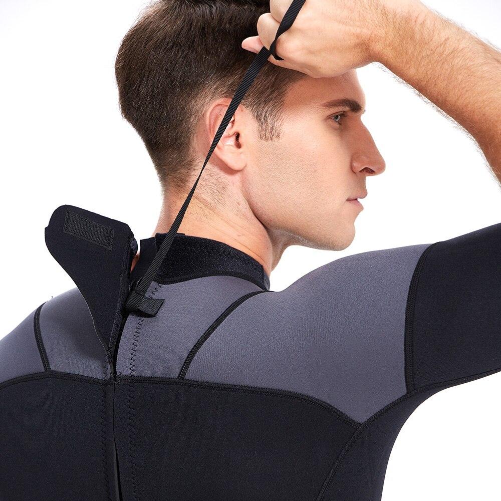 YONSUB néoprène 3mm combinaison de plongée manches longues et courtes combinaison de plongée hommes près du corps pêche sous-marine plongée surf plongée en apnée maillot de bain - 5