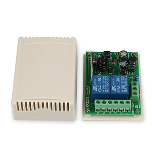 Image 4 - QIACHIP 433 MHz AC 110V 220V Wireless 2CH RF Transmitter Remote Control Switch + RF Relay Receiver For Light Garage Door Opener