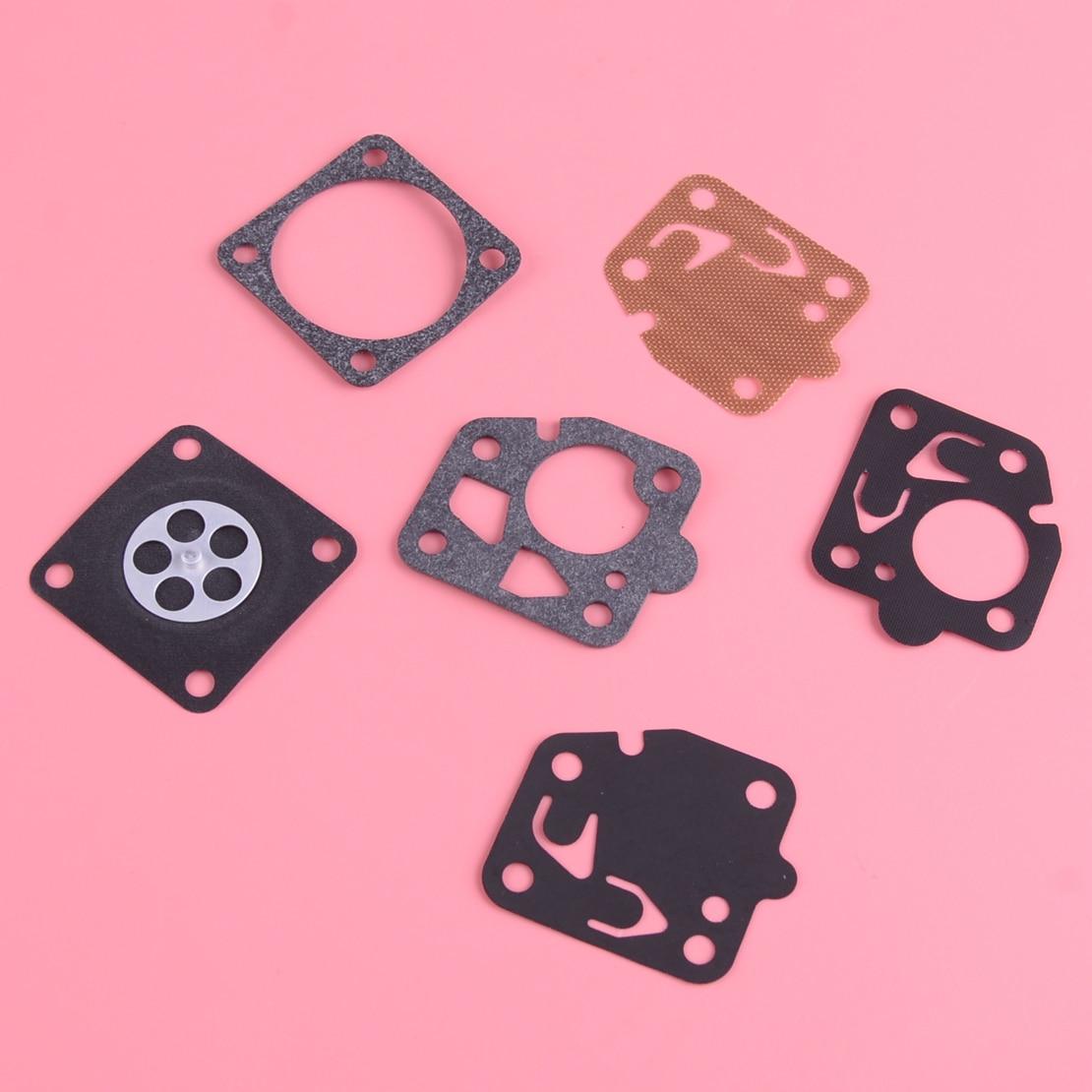 LETAOSK Carburetor Carb Gasket Repair Rebuild Kit Fit For Kawasaki TG18 TG20 TG24 TG28 TG33 TF22 Engine Tool Part Replacement
