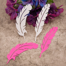 2pcs Feathers Metal Cutting Dies for DIY Scrapbooking Crafts Album Embossing Folder Dies Stencils Maker Photo Template Decorn special thank you letter metal cutting dies for scrapbooking diy album embossing folder paper card maker template decor stencils