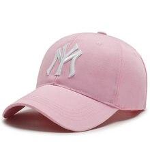 Gorras de béisbol con Cierre trasero para hombre y mujer, gorro de béisbol ajustable, Snapback NY, Hip Hop, deportiva, bordado de hueso, gorra Pop