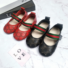 Dolakids New baby leather shoes hollowed-out pumps princess