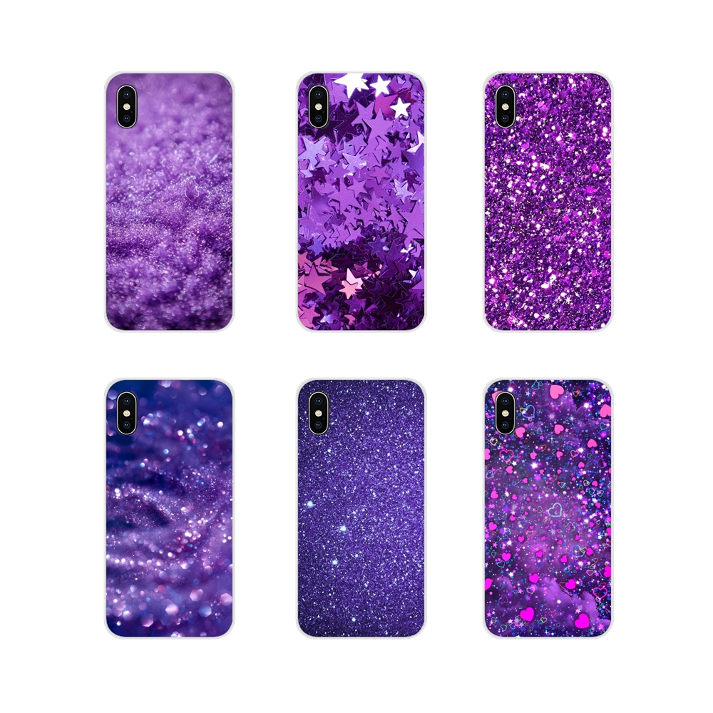For Samsung Galaxy J1 J2 J3 J4 J5 J6 J7 J8 Plus 2018 Prime 2015 2016 2017 Accessories Phone Cases Covers lovely purple glitter image