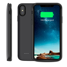 For iPhone Xs Max Battery Charger Case With Audio 3600mAh /5000mAh/6000mAh External Backup Charger Power Bank Protective Shell