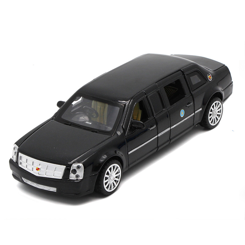 18CM Diecast Presidential Limousine Scale Model, Metal Toys Car Collection For Kids With 6 Openable Doors