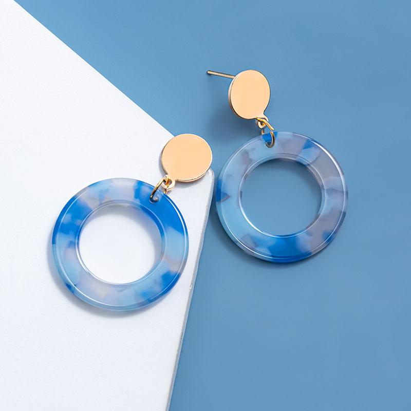 New Korean Geometric Acrylic Round Dangle Drop Earrings For Women Statement Gold Sequins Earring Fashion 2020 kolczyki Jewelry