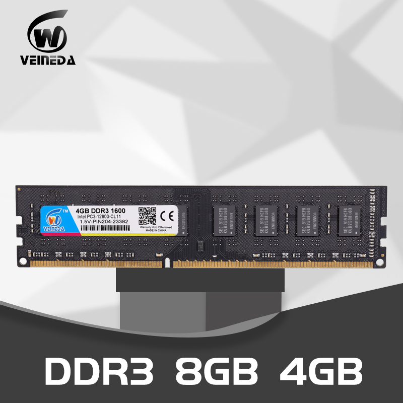Dimm <font><b>Ram</b></font> DDR3 4 gb <font><b>8gb</b></font> <font><b>1333</b></font> <font><b>mhz</b></font> 1600Mhz Compatible 1066 <font><b>ddr</b></font> <font><b>3</b></font> 4gb PC3-12800 <font><b>Memoria</b></font> 240pin for All AMD Intel Desktop image