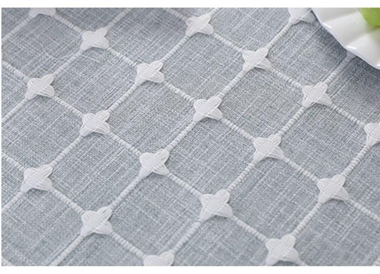 Современная скатерть в клетку ткань для обеденного стола из