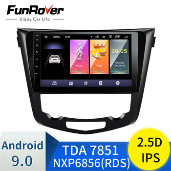 Funrover 2.5D+IPS Android9.0 Quad Core 2 din Car Radio GPS Navi Multimedia Player For 2013 2014 2015 2016 Nissan QashQai X-Trail image