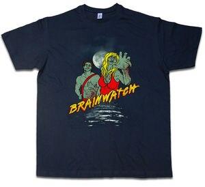 Brainwatch T-Shirt yürüyüş Baywatch eğlenceli zombi ölü cankurtaran Malibu-gösterisi orijinal başlık adam moda yuvarlak