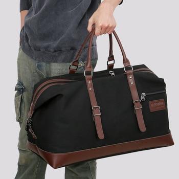 Canvas Travel Bags Large Capacity Carry On Luggage Bags Men Duffel Bag Travel Tote Weekend Bag men travel bag genuine leather large capacity travel trip duffel bag hand luggage crossbody bags tote men s handbags bolsahombre