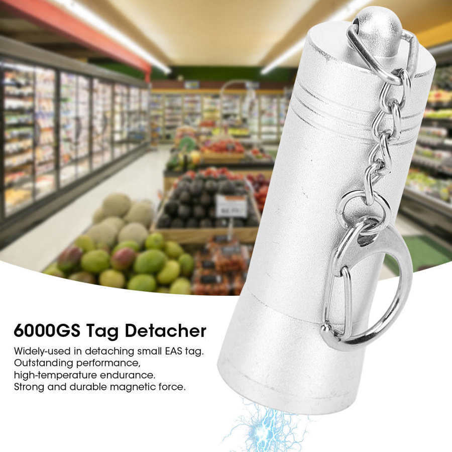 6000GS Magnet Tag Detacher Anti‑Theft Buckle Removal Device Magnet Tag Release for Supermarket Clothing Store