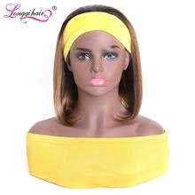 Выделите прямые волосы парик с головной повязкой 1B/412 предварительно Цветной бразильские прямые волосы парики для Для женщин 100% человеческ...