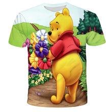 Kids T-Shirt Cartoon Winnie the Pooh T Children Boys/Girls Summer Short Sleeve Cloth 3D Printed Cute Tops 4T-14T 2021