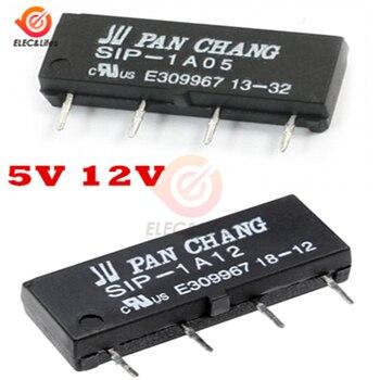 5 uds 5V 12V relé de lengüeta interruptor para SIP-1A05 SIP-1A12 4PIN 4-PinReed de relé
