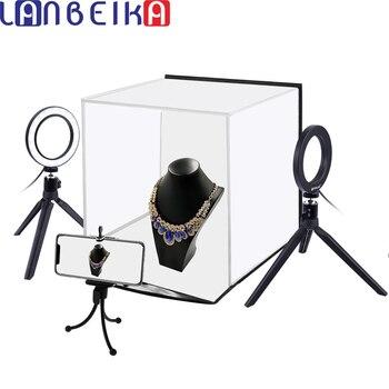 LANBEIKA Portable Softbox 30*30CM Light Box Studio LED Photo Lightbox &6 Colors Backdrops Tabletop Photography LED lighting Box