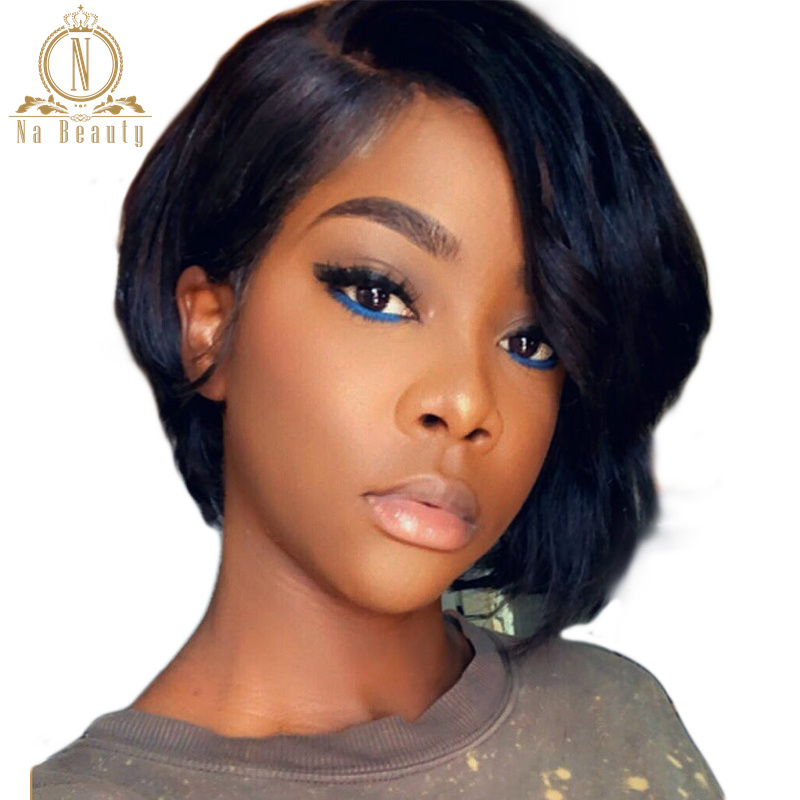 1B 613 Blonde 13x6 Lace Front Human Hair Short Wigs Bob Wigs Pixie Cut Ombre Color Black Straight For Women Brazilian Hair 150%