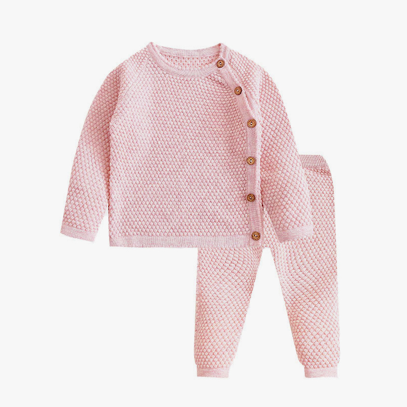 Baby Boy Girl Clothes Sets Spring Autumn Newborn Baby Girl Clothing Christmas Tops + Pant Outfits Baby Knit Sweater Baby Pajamas 5