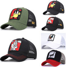 2021 nouveaux animaux broderie hommes casquette de Baseball femmes chapeau Snapback Hip Hop casquette été maille chapeau casquette de camionneur os Gorra papa chapeau