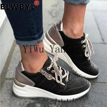 2020 Breathable Sneakers Women Vulcanized Sneakers New Styles Striped Mesh Platf