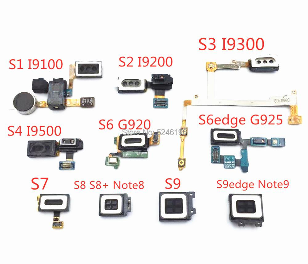 1pcs Ear Earpiece Speaker Flex Cable For Samsung Galaxy S1 S2 S3 S4 S6 S7 S8 S9 Edge Note8 Note 9 Headphone Jack Audio Vibrator