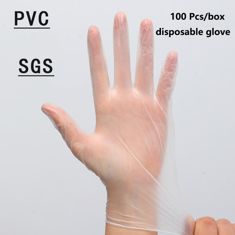 PVC Gloves Single Used Guantes Anti-virus Environmental Protection Gloves Hygiene Transparent Food Grade Protection Isolation