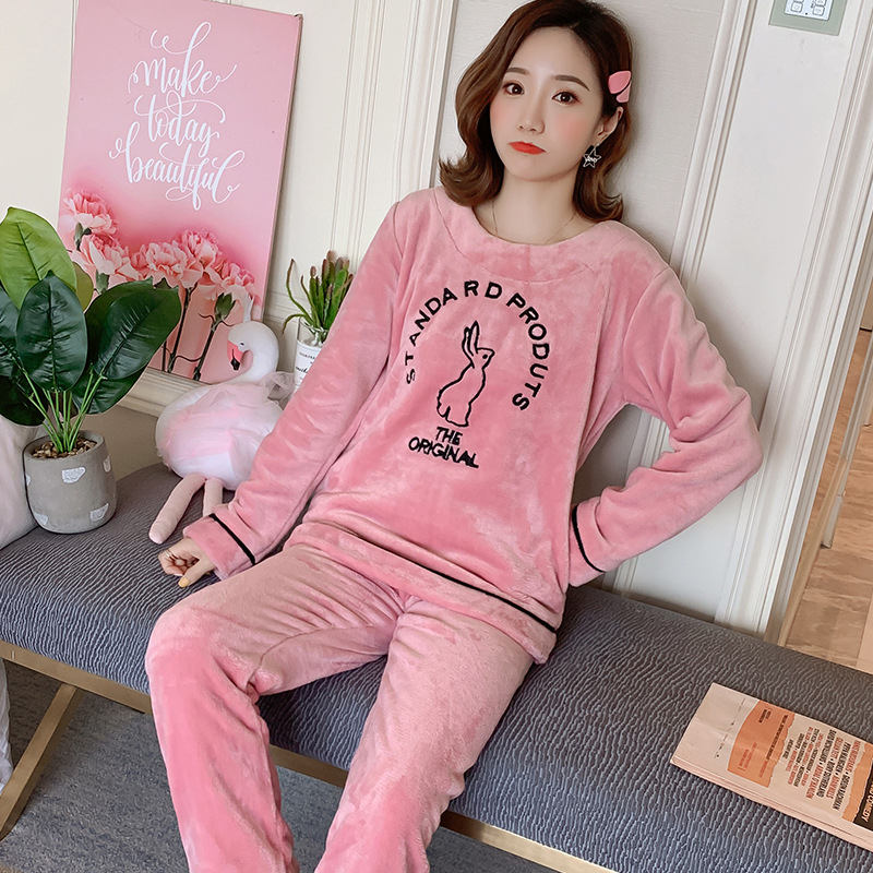 Betyline 2019 New Winter Pajamas For Women Sleepwear Warm Flannel Long Sleeves Pajamas Cute Animal Homewear Thick Homewear 153