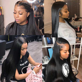 360 Lace Frontal Wig Pre Plucked With Baby Hair Hot Star Malaysian Straight Human Hair Wigs 150% Remy Hair Glueless Lace Wig