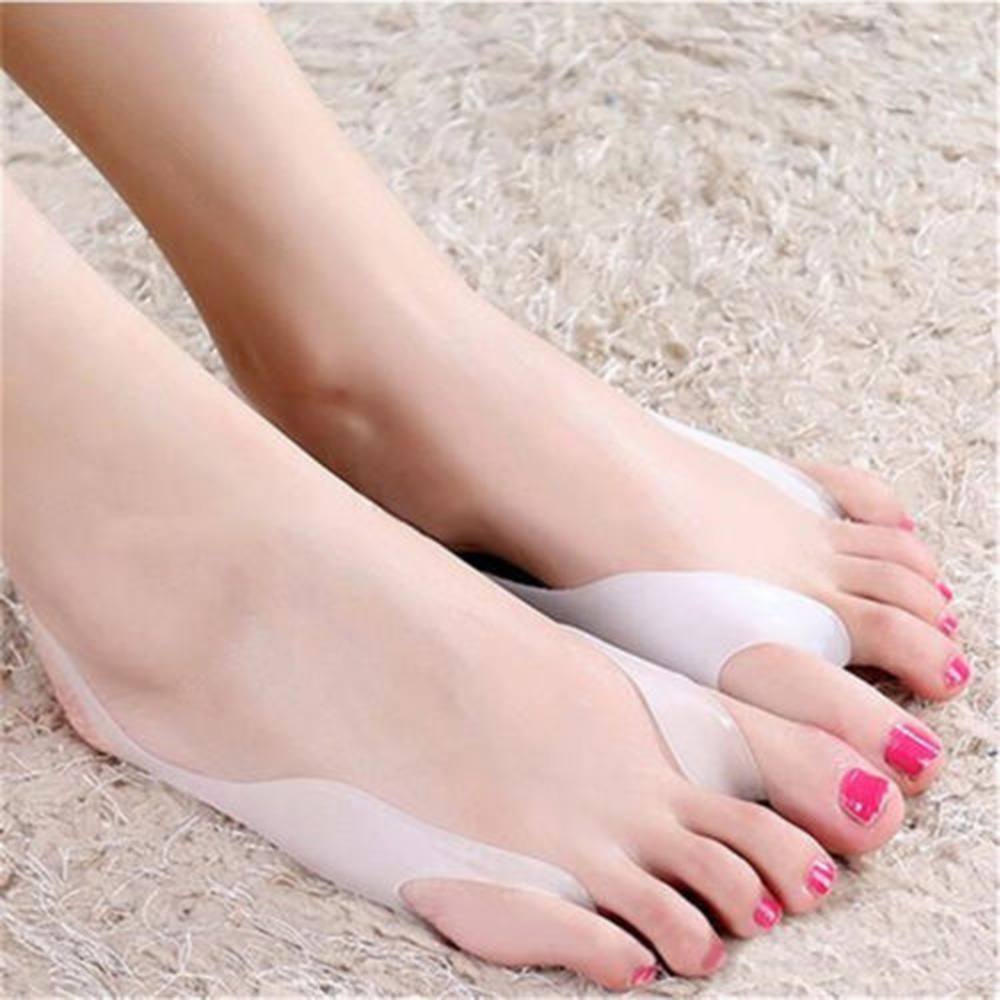 Hot Sale 2pcs/set Protective Gel Toe Separators Foot Orthotics Stretchers Bunion Pain Relief  Cushion Feet Care Shoes Insoles