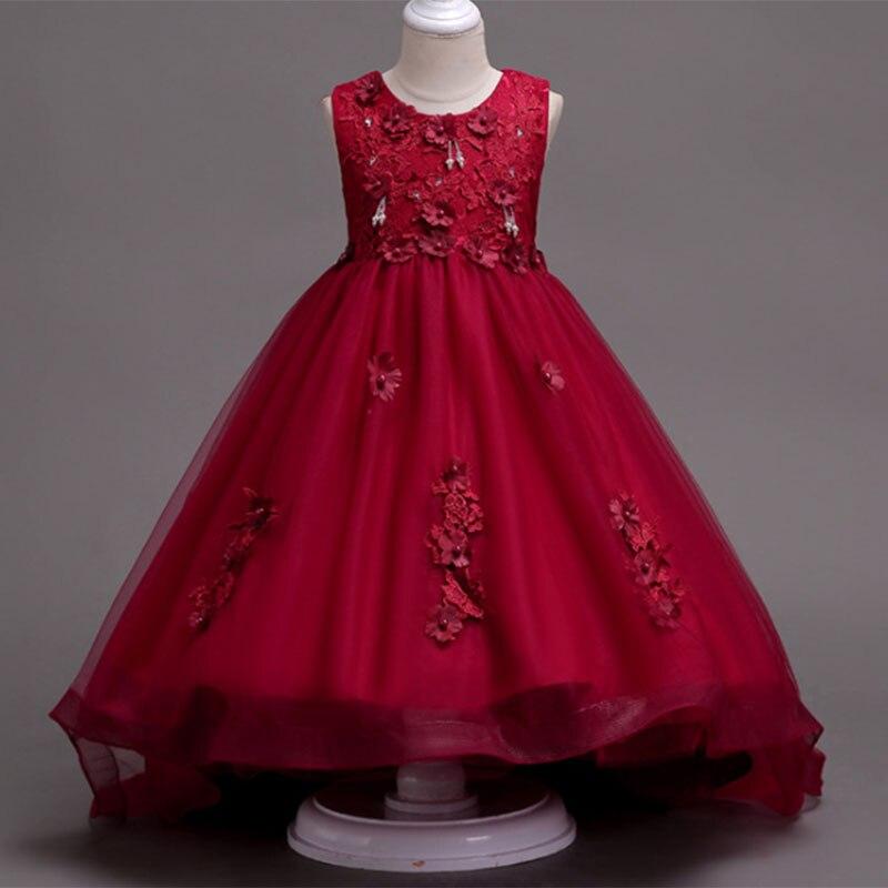 2019 Girls Wedding Dress Kids Party Princess Dress Children's Clothing Kids Prom Ball Gown Pageant Vestidos De Comunion