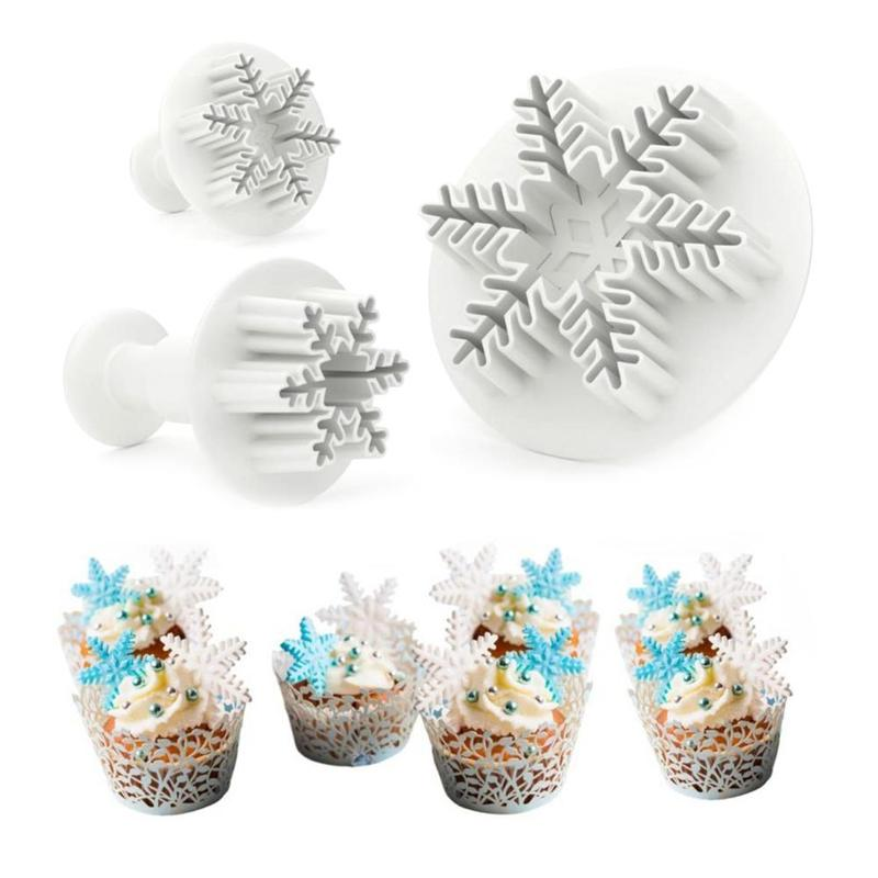 2/3/4pcs Christmas Biscuit Mold Snowflake Elk Gingerbread Man Soft Plastic Mold Cake Candy/Jelly/Soap/Chocolate Decor Tools
