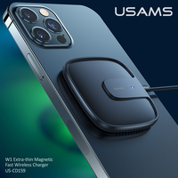USAMS 15W Magnetic Wireless Charger For iPhone 12 Pro Max Mini Fast Charging Pad For iphone 12 11 XS X XR 8 SE Huawei Samsung Xiaomi