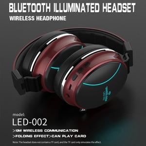 Image 4 - LED 002 Wireless Bluetooth Headset Folding Kopfhörer 3D Stereo Gaming Headset